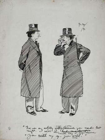 Oscar Wilde and Whistler, 1894
