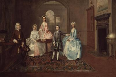 John Thomlinson and His Family, 1745