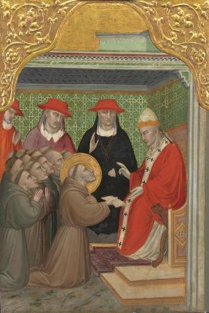 Saint Francis before the Pope