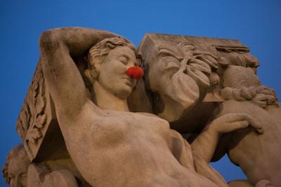 Sculpture, Jardins du Trocadero in Paris (16th arrondissement). December 2012