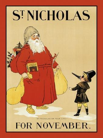"St. Nicholas for November. ""St Nicholas or Your Life!"""