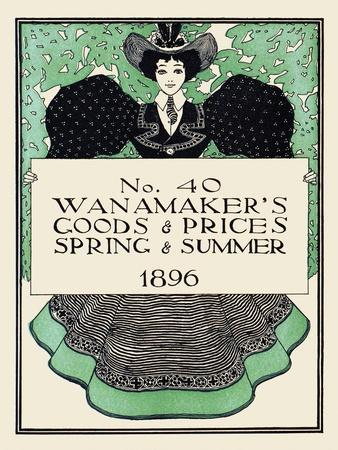Wanamaker's Goods and Prices, Spring and Summer 1896