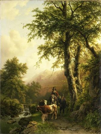 Italian Landscape, Barend Cornelis Koekkoek