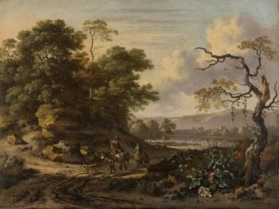 Landscape with a Man Riding a Donkey