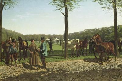 Horse Fair on the Maliebaan at the Hague