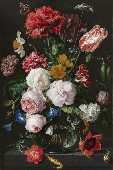 Still Life With Flowers In A Glass Vase Prints By Jan Davidsz De