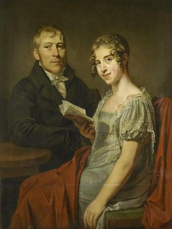 Portrait of Hendrik Arend Van Den Brink with His Wife Lucretia Johanna Van De Poll