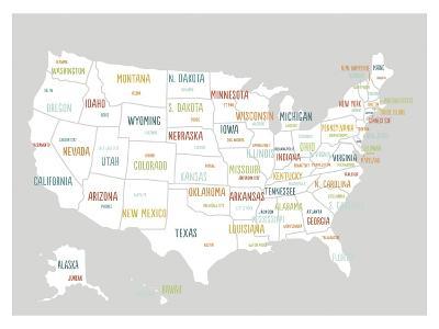 Light Grey USA Map