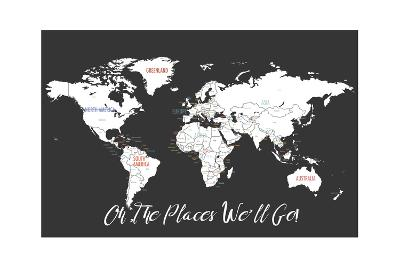 Oh the Places We'll Go in Black