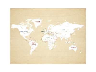 Wood World Map