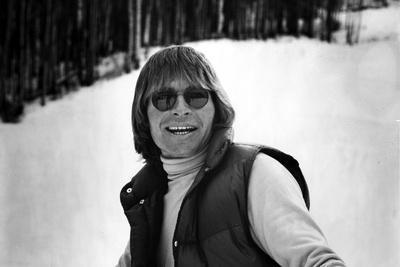 John Denver Posed At Snow