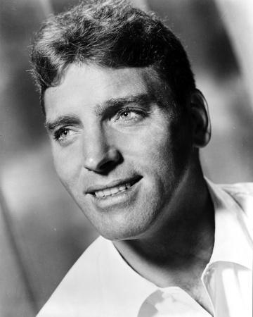 Burt Lancaster Looking Up and wearing White Polo