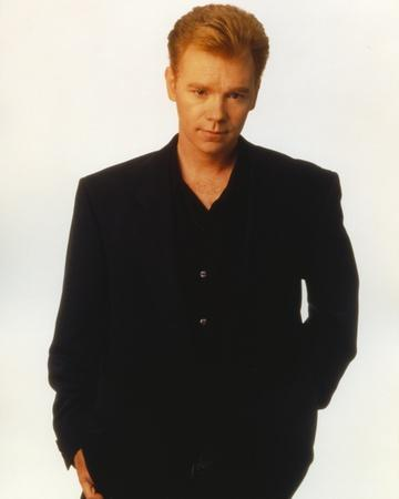 David Caruso Portrait in Black Suit with One Hand on Pocket