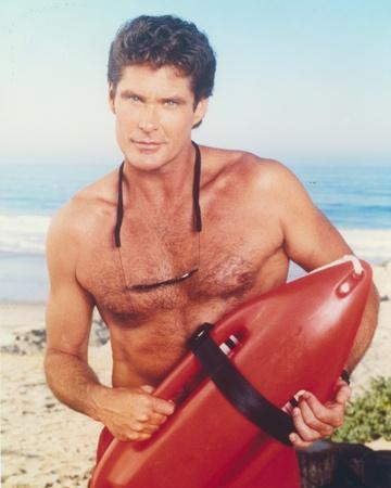 David Hasselhoff Posed in a Lifeguard Costume