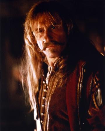 Gerard Depardieu in Brown Leather Jacket Close Up Portrait