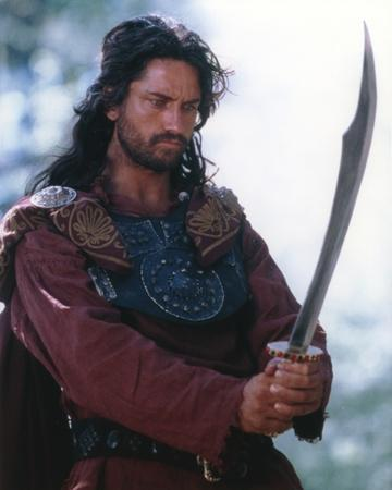 Gerard Butler in Warrior Outfit with Sword Portrait