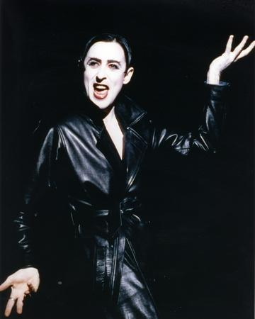 Alan Posed in Black Dress in a Portrait in Classic