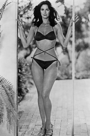 Lynda Carter Posed in Bikini Classic Portrait