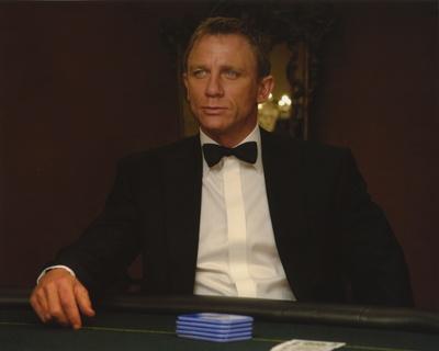 Daniel Craig Seated in Black Tuxedo