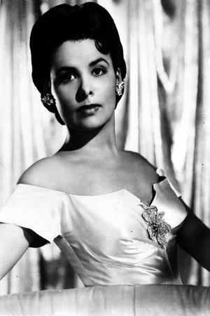 Lena Horne of Portrait in Black and White wearing Elegant Gown