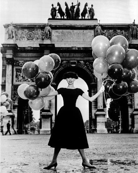 Audrey Hepburn Funny Face Black Dress