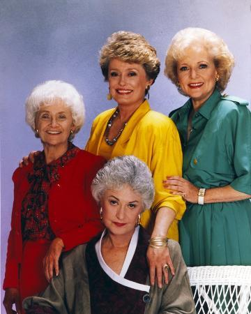 Golden Girls smiling Posed Group Portrait