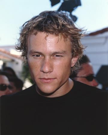 Heath Ledger wearing a Black Shirt