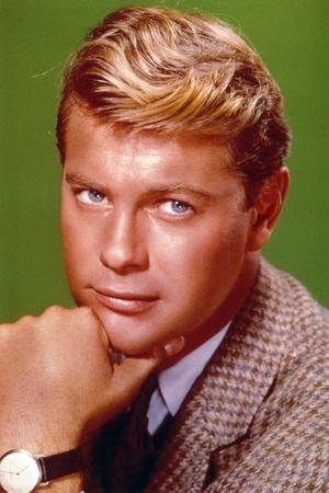 Troy Donahue Green Background Close Up Portrait