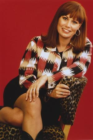 Suzy Bogguss Posed in Printed Polo