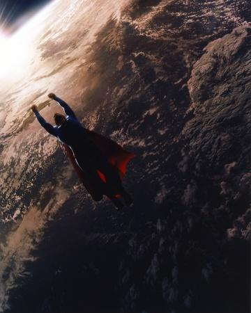 Brandon Routh Flying as Superman
