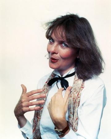 Diane Keaton Portrait in White Sleeves