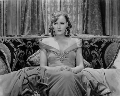 Greta Garbo in Gown and sitting Portrait