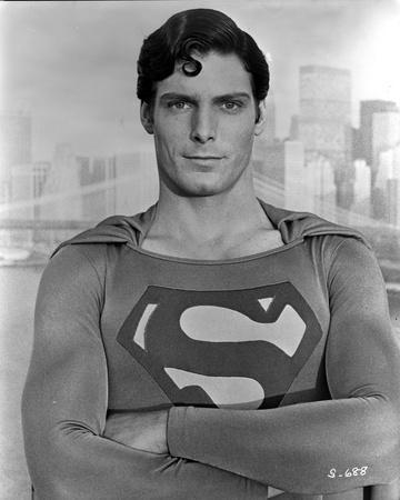 Christopher Reeve Posed in Superman Costume with Arm's Cross