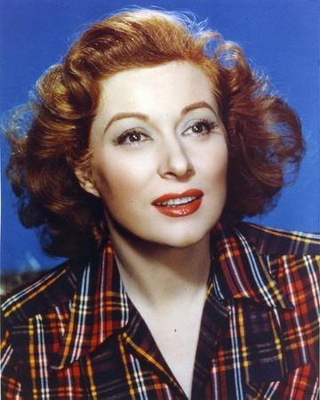 Greer Garson Close Up Portrait