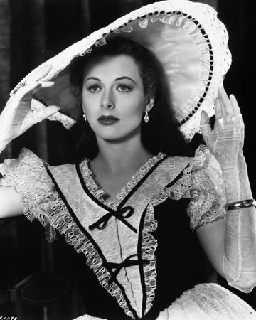 Hedy Lamarr wearing a Big Hat