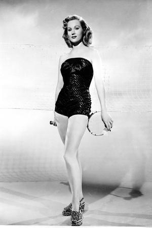 Virginia Mayo Posed in Slim Fit Dress