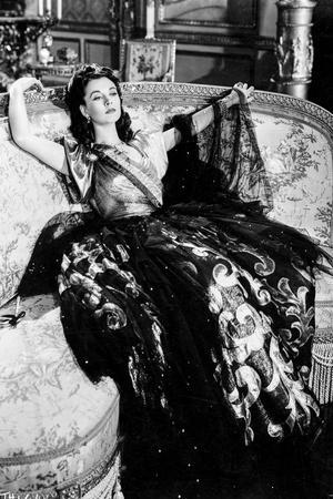 Vivien Leigh Lounging on Couch