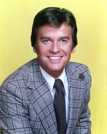Dick Clark Portrait in Yellow Background