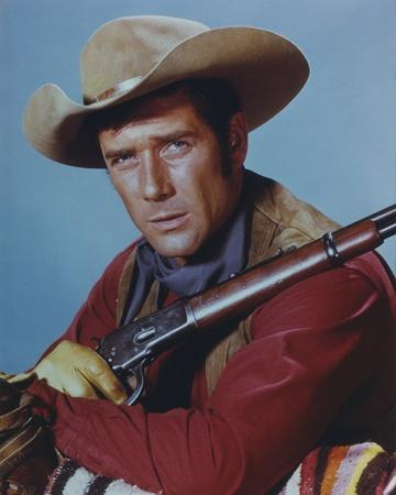 Robert Fuller in Cowboy Outfit with Rifle Portrait