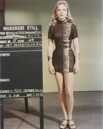 Anne Francis Standing In Sexy Black Dress Photo By Movie