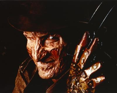 Nightmare On Elm Street Freddy in Close Up smiling Portrait with Hat