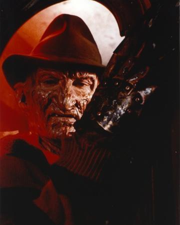 Nightmare On Elm Street Freddy Posed in Stripes Long Sleeve Shirt