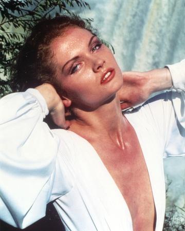 Lois Chiles Portrait in White Dress