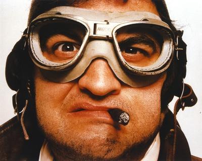 John Belushi wearing Goggles Close Up Portrait