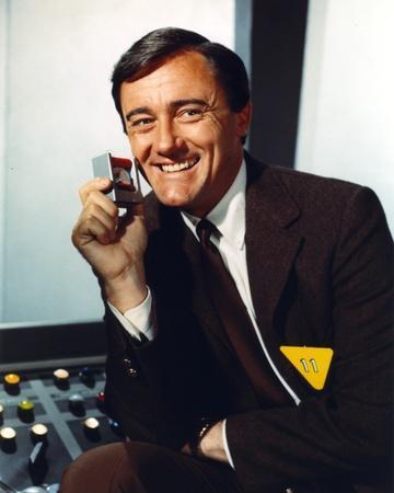 Robert Vaughn Portrait in Brown Suit