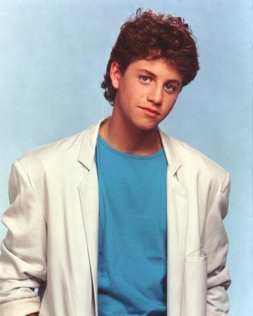 Kirk Cameron in White Coat Skyblue Background Portrait