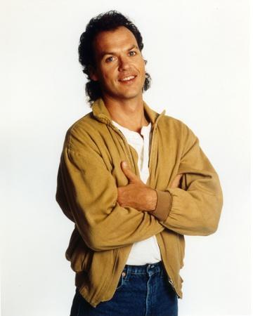Michael Keaton posed in Brown Coat
