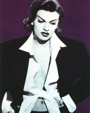 Sandra Bernhard Classic Portrait in Black Coat
