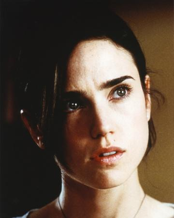 Jennifer Connelly Close Up Portrait in White Round Neck Shirt