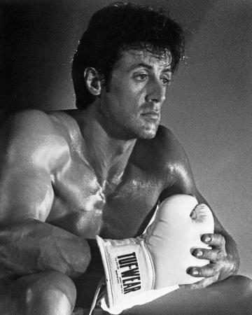Sylvester Stallone Action Pose Portrait